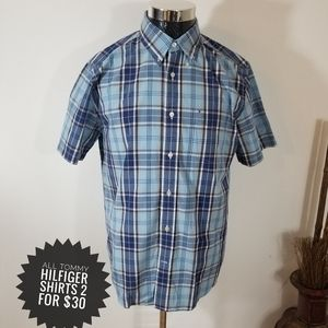 Tommy Hilfiger College Poplin  Plaid Men's Shirt
